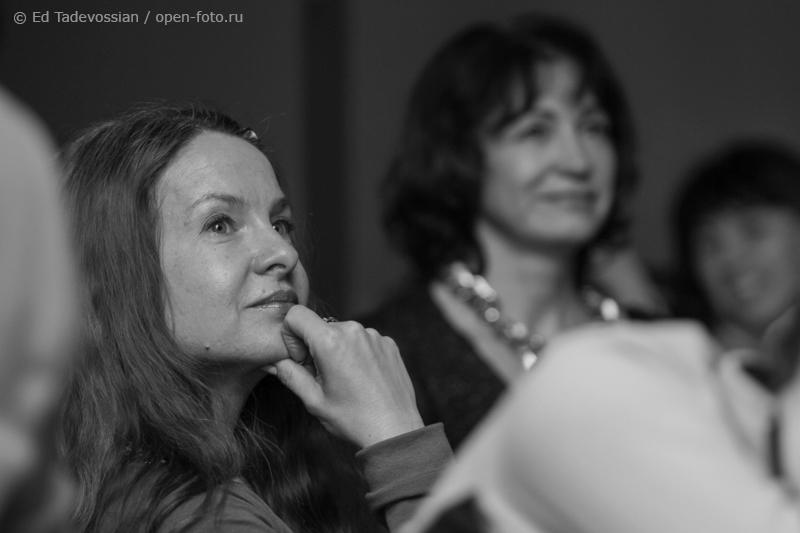 Наталья Смирнова на мастер-классе фотошколы OPEN FOTO. Автор фото - Эдуард Тадевосян