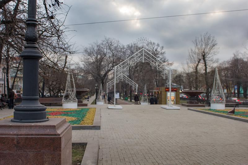 Место встречи участников фотопрогулки «Графика московских бульваров»