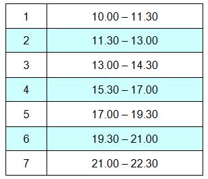 Расписание индивидуальных воркшопов в Школе фотографии OPEN FOTO 16 ноября 2014 года