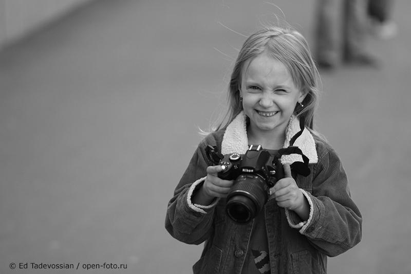 Фотопрогулка Школы фотографии OPEN FOTO. Самая юная участница