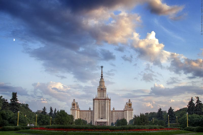 МГУ. Воробьевы горы. Фото Евгения Колкова