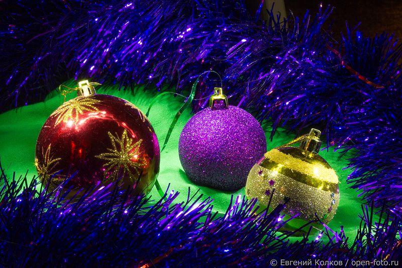 Световая кисть. Новогодняя открытка. Фото Евгения Колкова