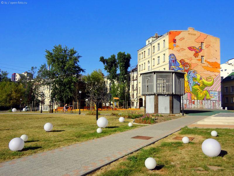 Сквер на углу Малого Сергиевского переулка и Трубной улицы. Фото Ксении Ждановой