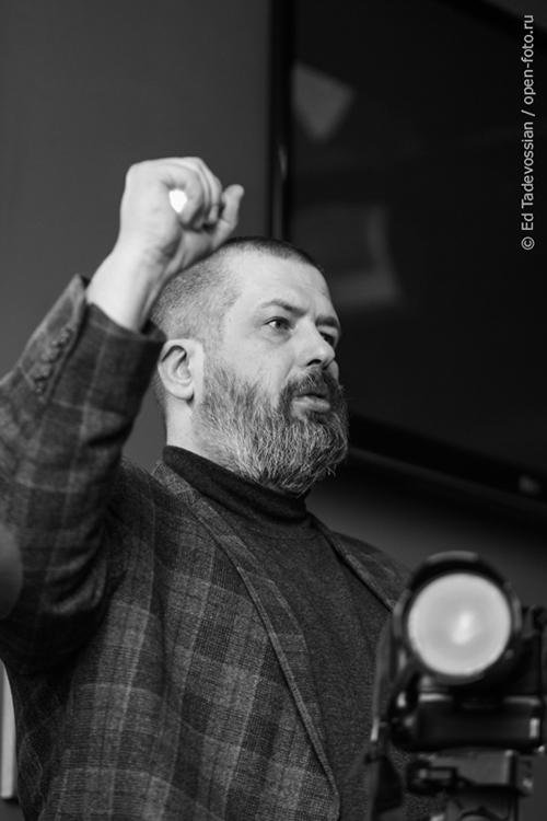 Евгений Колков. На уроке фотошколы OPEN FOTO. Фото Эдуарда Тадевосяна