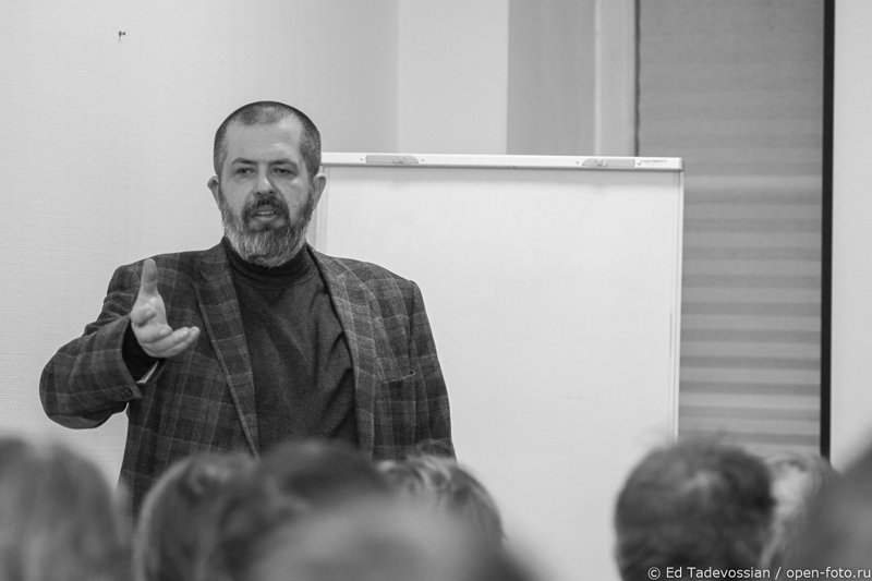 Евгений Колков. На мастер-классе Школы фотографии OPEN FOTO. Фотограф - Эдуард Тадевосян
