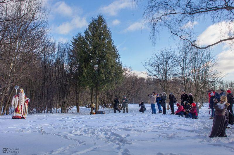 Дед Мороз и фотографы. Фото: Евгений Колков