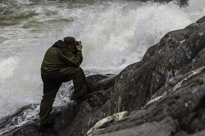 Евгений Колков в процессе съемки. Фото: Константин Нестеров