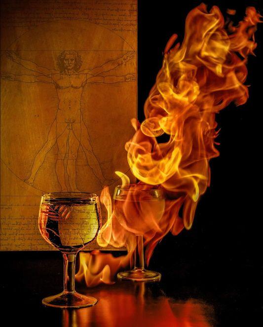 Съемка огня. Фото: Яна Плаксина